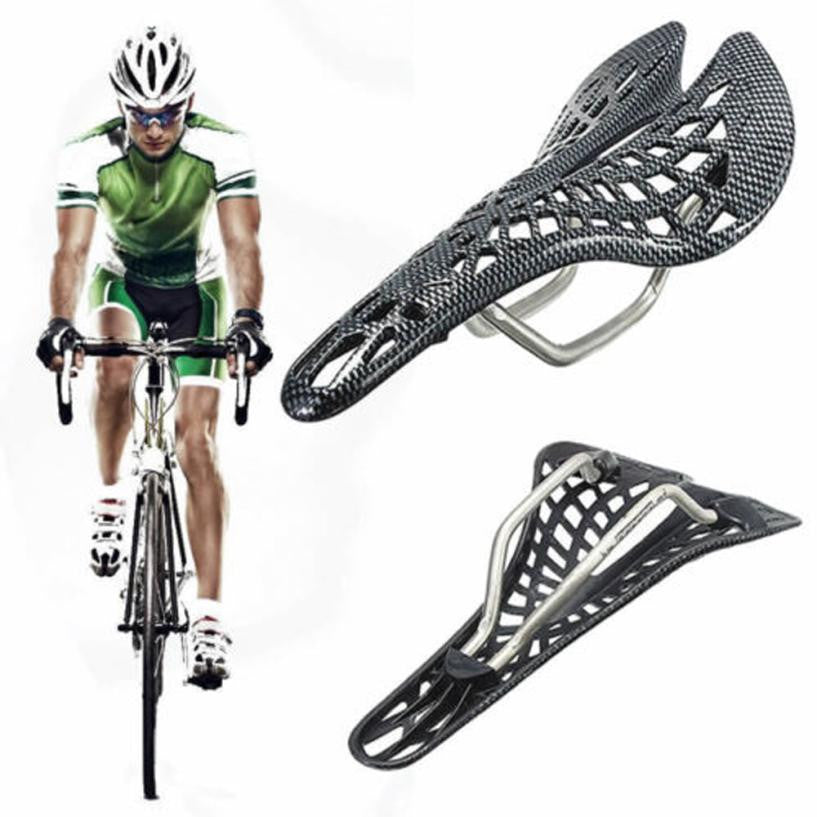 45*135*280mm Comfortable Carbon Fiber Mountain Racing Bike Cycling Bicycle Hollow Saddle Seat Bicycle Accessories #E0