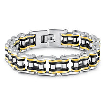 Bicycle Chain Bracelet  Trendy  Men's  Color  Stainless Steel Jewelry High Quality Cycling Bracelet  Luxury  Lucky Birthday Gift