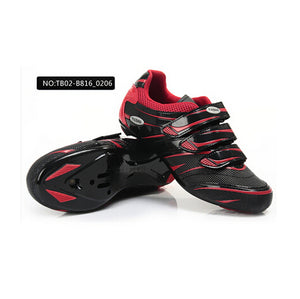TIEBAO Carbon Nylon-fibreglass Road Sports Ciclismo Shoes Road Bike Cycle Soles Bicycle Riding Athletic Cycling Shoes