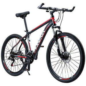 "Phoenix Bicycle 24"" 26"" Double Disc Brake 21 Speed Men's Mountain Bicycle Aluminum Alloy Road MTB Bike Teenage Student Cycling"
