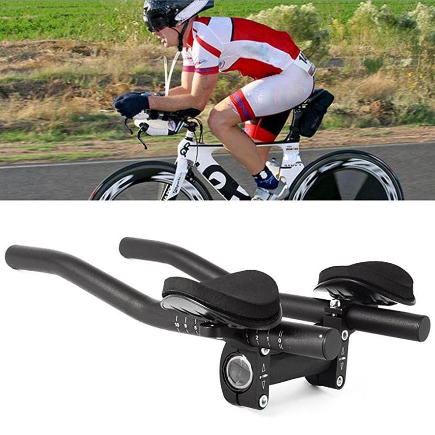 Aluminum Alloy Road Handlebar Cycling Race Bicycle MTB Rest Handlebar Separated 2pcs Pipe Rest End #S0