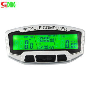 1 Set wireless LCD Bicycle Bike Cycling Computer Odometer Speedometer Velometer High Quality