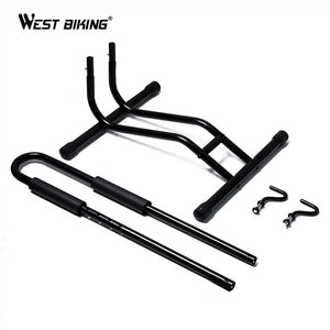 WEST BIKING Bicycle Packing Racks Aluminum Alloy L-type MTB Road Bike Racks Storage Holder Cycling Bike Wheel Hub Display Stand