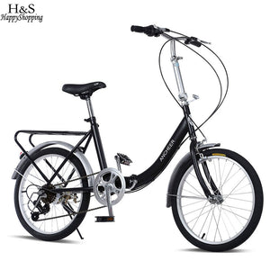 ANCHEER  20-Inch 7 Speed Loop Folding Bike for Commuting School Cycling Bicycle