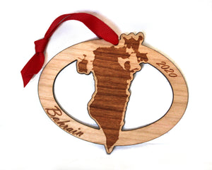 Bahrain Map Ornament