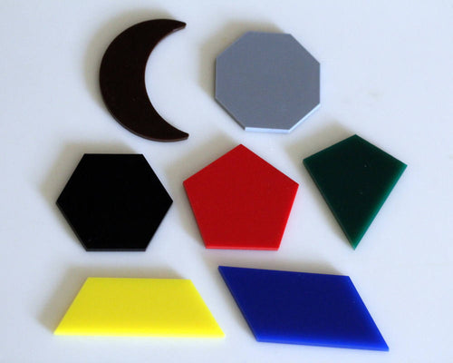 Complex Geometric Shapes, Acrylic set of 7