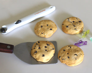 Cookie Pattern Weights, Chocolate Chip -- Set of 6