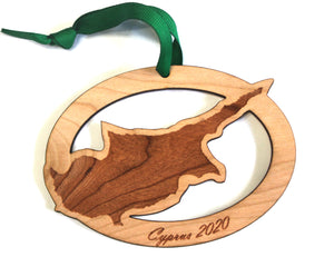 Cyprus Map Ornament