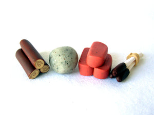 Agricola Clay Resource Set (Wood, Clay, Stone, Reed)