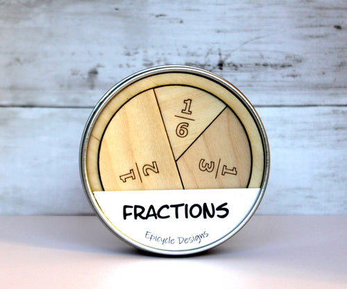 Fractions Learning Aid - Montessori Fractions - Visual Fractions