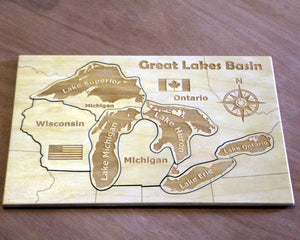 Great Lakes Wooden Puzzle