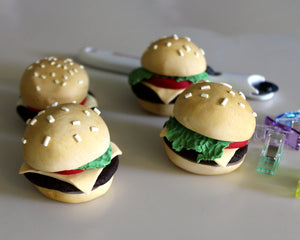 Cheeseburger Pattern Weights EXTRA HEAVY -- Set of 4