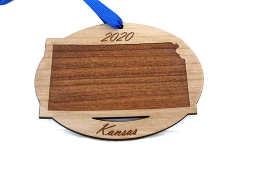 Kansas Map Ornament