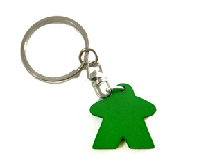Meeple Keychain, Solid Wood