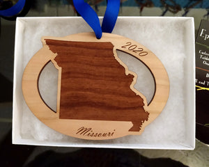Missouri Map Ornament