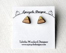 Tiny Wooden Mountain Earrings