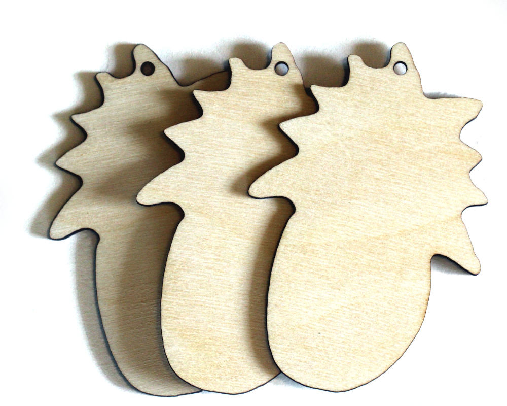 Pineapple Cutouts, Wider, Set of 3