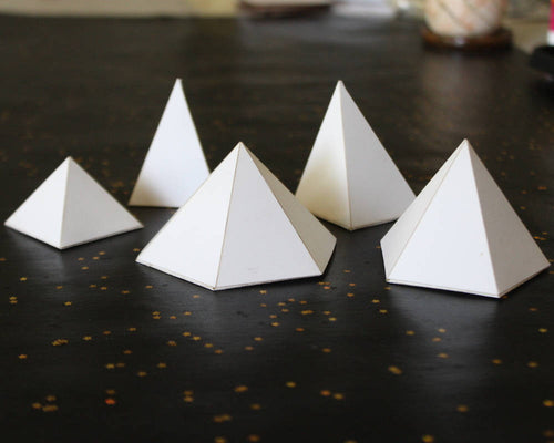 Pyramid Cardstock Models, Set of 5