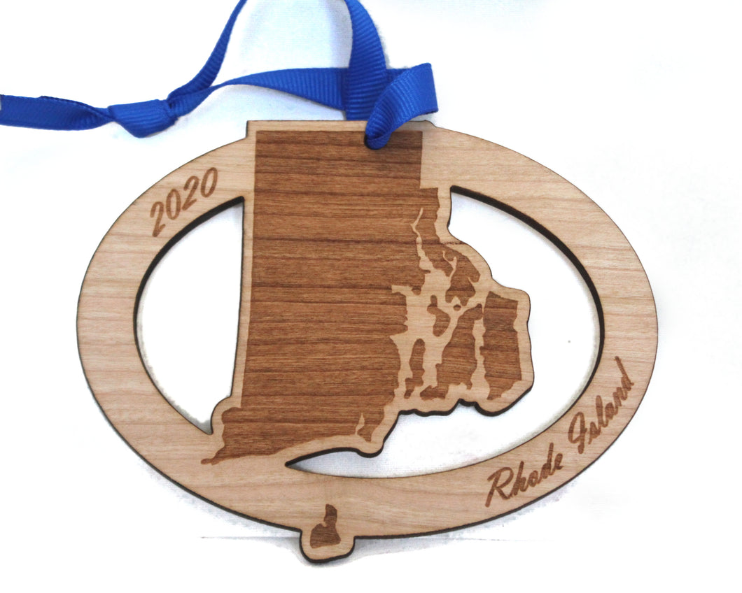 Rhode Island Map Ornament