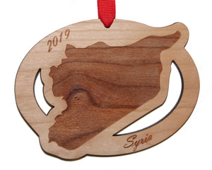 Syria Map Ornament
