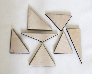 Triangles, Wooden Set of 7