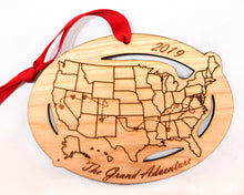 Personalized Text Custom Cities US Map Ornament