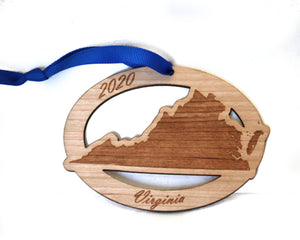 Virginia Map Ornament