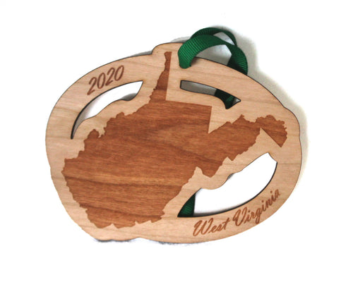 West Virginia Map Ornament