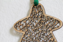 Wooden Filigree Meeple Ornament