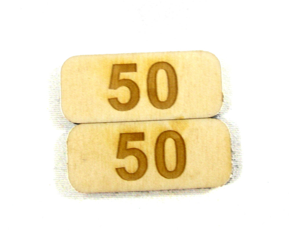 50 Point Counters, Set of 8