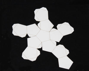 Platonic Solids Cardstock Models, Set of 5