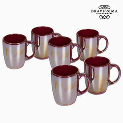 Bravissima Kitchen -  China crockery Kaffekrus Burgunder (6 pk)