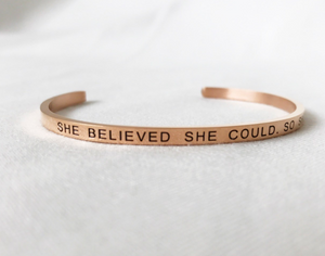 Thirty Nine One Twenty She Believed She Could So She Did Bracelet