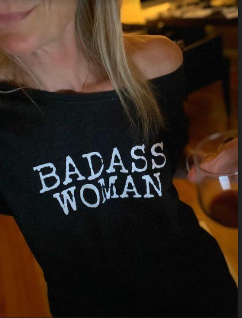 Badass Woman-Typewriter Font / Off Shoulder