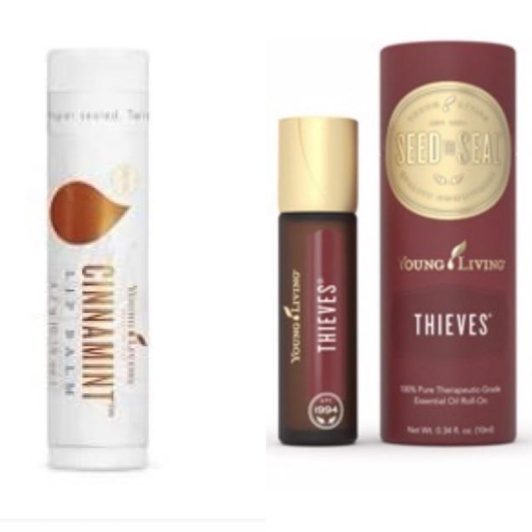 BUNDLE w/Thieves Roll-On and Cinnamint Lip Balm