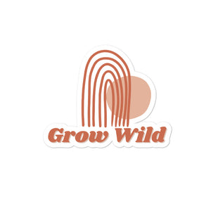 Grow Wild Boho Rainbow Sticker