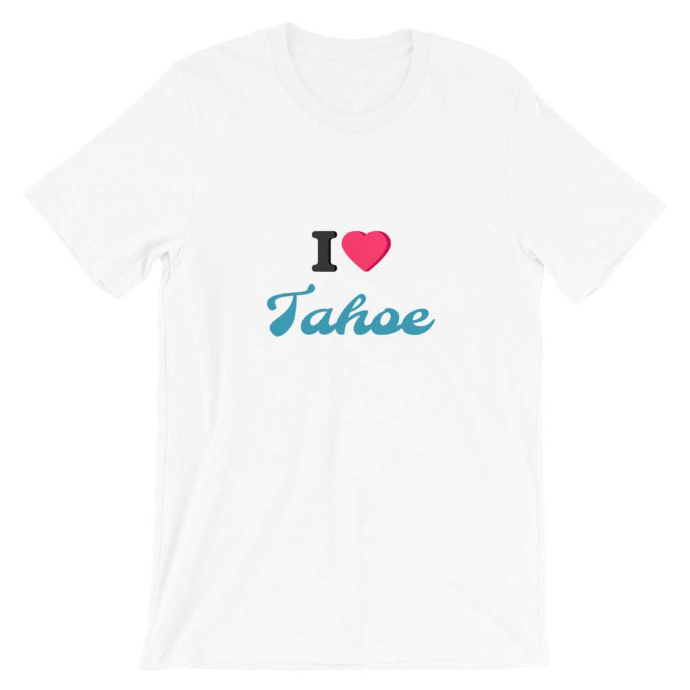 I Love Tahoe Short-Sleeve Unisex T-Shirt