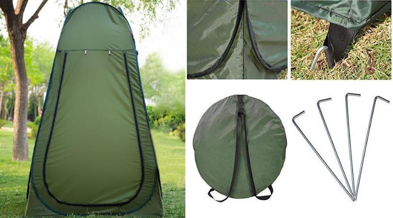 Hutch Tents Portable Outdoor Privacy Shelter with Carrying Bag - Roof Top Tents Official