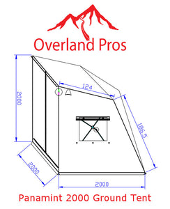 Overland Pros Panamint 2000 (3-4 Person) Ground Tent - Roof Top Tents Official