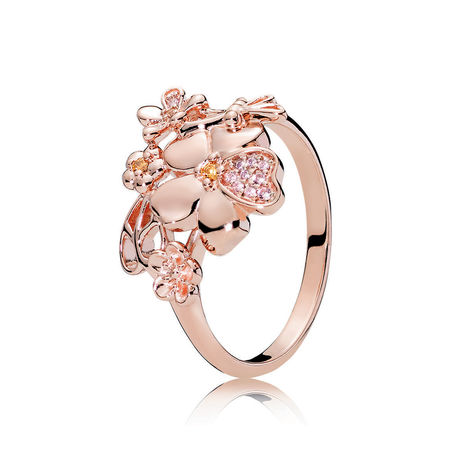 WildFlower Meadow Ring, Pandora Rose Blush and Pink CZ