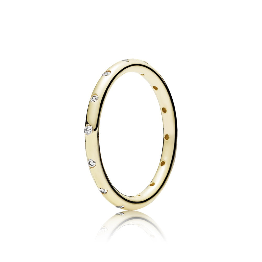 Gold droplet ring by Pandora.