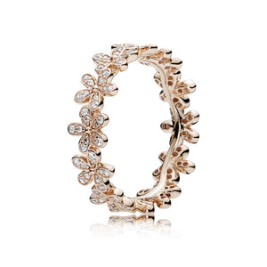 PANDORA Rose Ring Dazzling Daisy Band with Clear Cubic Zirconia