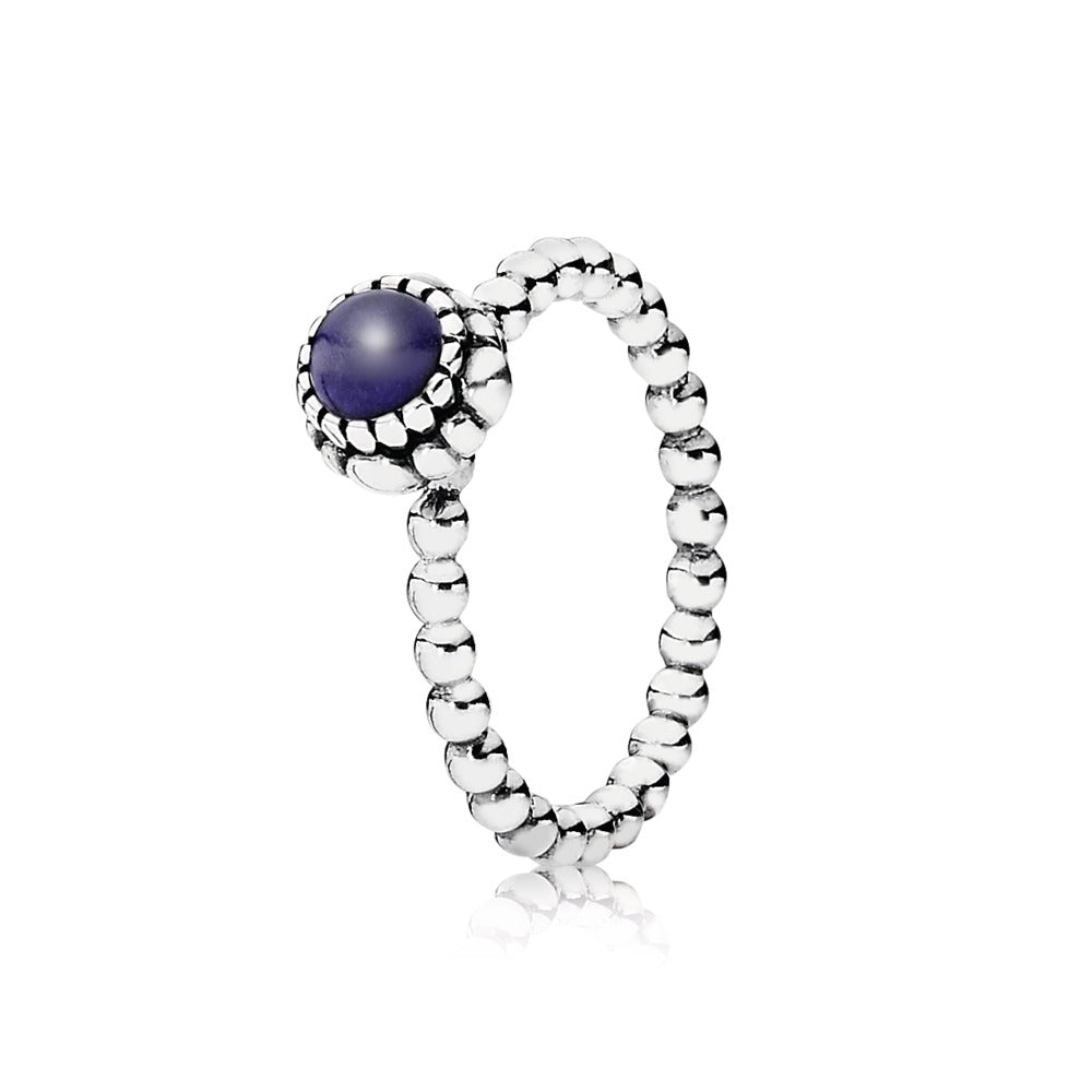 A Lapis Lazuli Silver Ring by Pandora Jewelry here in Santa Fe.