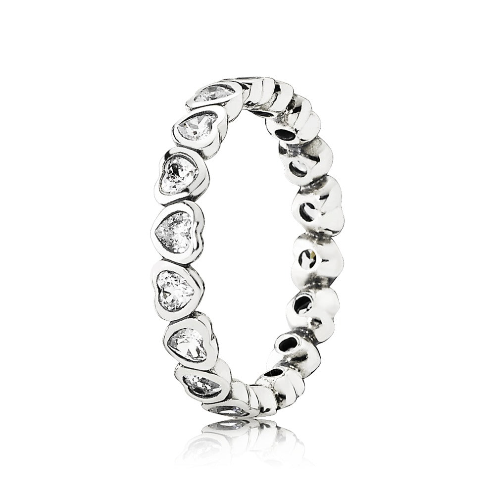 A eternity heart ring by Pandora.