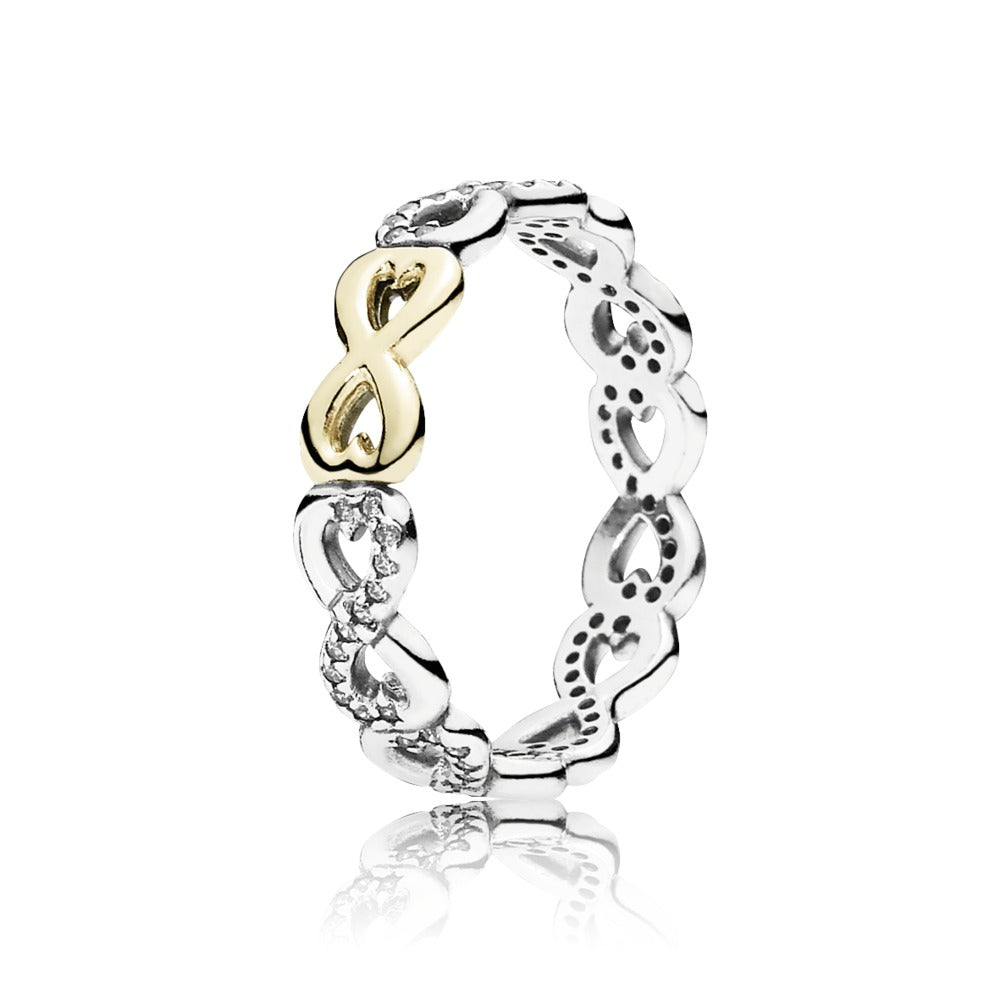 Infinite love clear cubic zirconia ring by Pandora.