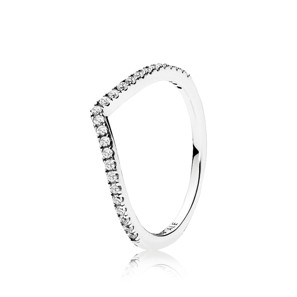 A wishbone ring by Pandora.