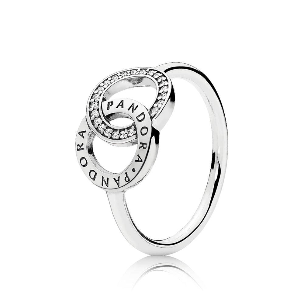Pandora ring with its logo on it.