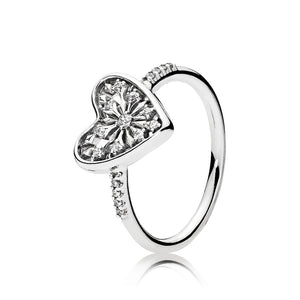 A heart ring by Pandora.
