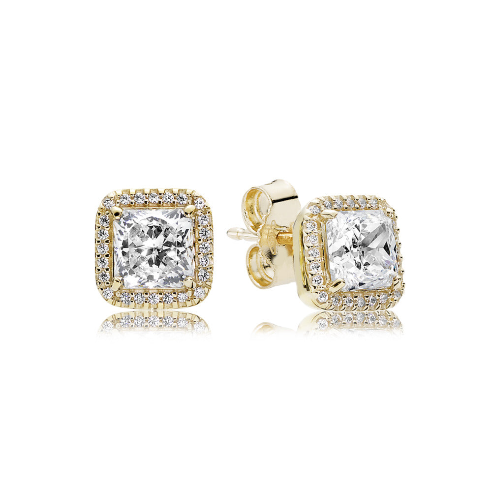 Stud Earrings Timeless Elegance with Clear CZ