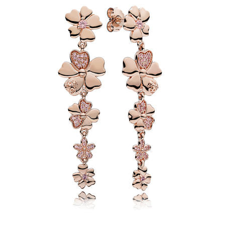 Floral Earrings in Pandora Rose.